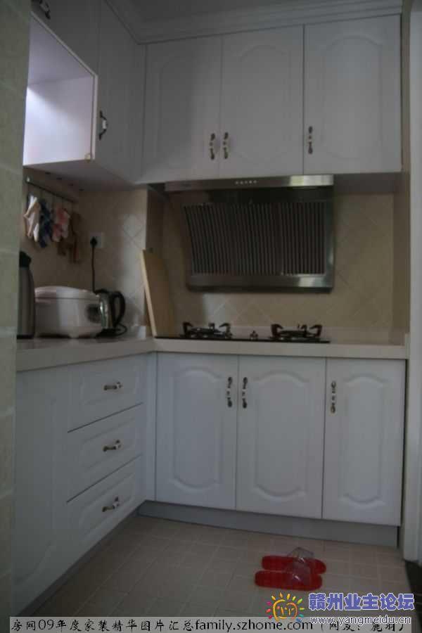 橱房装修效果图 餐厅装修效果图 厨房餐厅装修实景图 房网09 10年度家高清图片