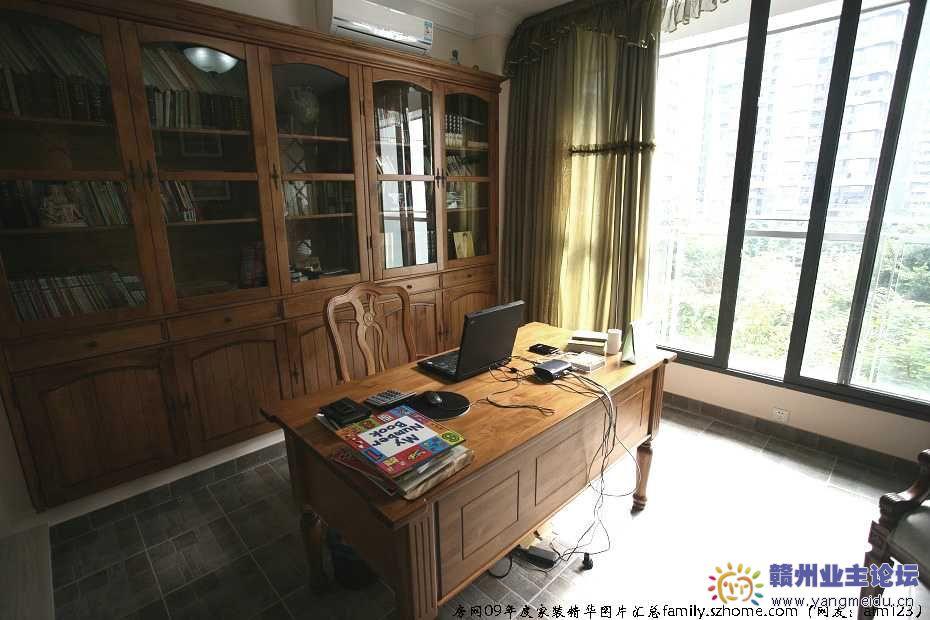 阳台装修效果图 书房装修效果图 阳台书房装修效果图实景图 房网家装