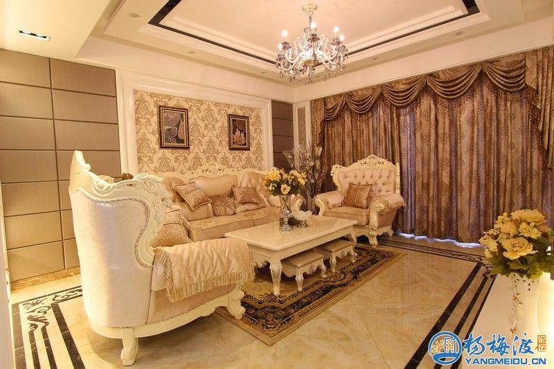 中央星城欧式风格装修实景照片欣赏 三星装饰样板房 高清图片